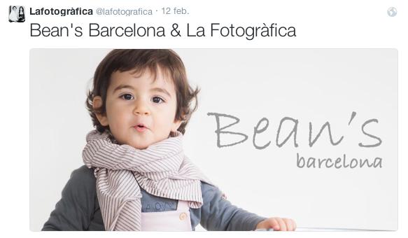 Piulada al nostre Twitter amb foto d'una campanya per Bean's Barcelona ©lafotogràfica